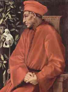 Retrato de Cosme de Médici por Jacopo Pontormo.