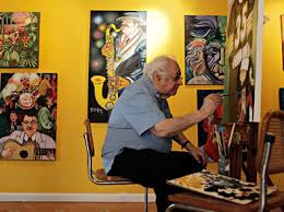 Ferdie Pacheco pintando