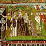 Mosaico de Teodora de Bizancio en la Iglesia de San Vital de Rávena (Wikimedia).