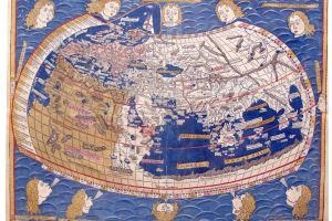 Mapa de Ptolomeo del siglo XV. Edición de Ulm (Wikimedia).