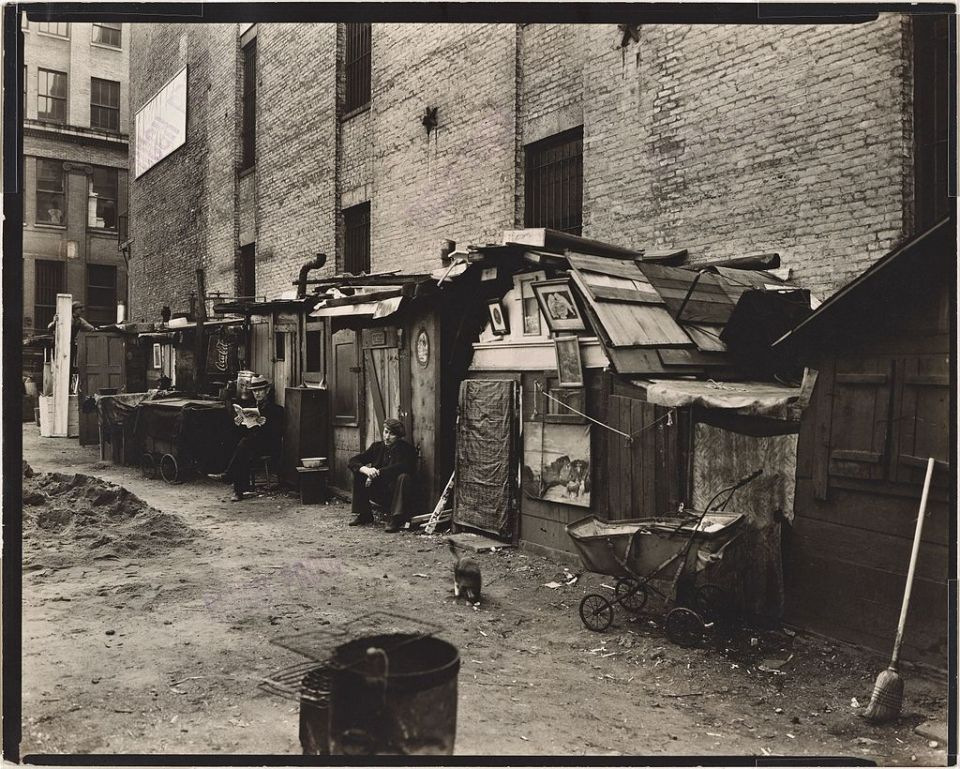 Chabolas en Manhattan (año 1935).