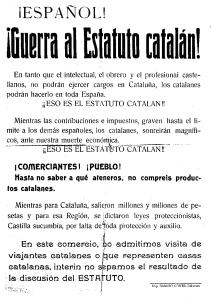 Guerra al Estatuto catalán (Wikimedia).