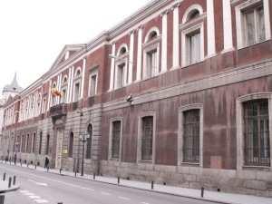 Sede de la Universidad de Madrid en 1956 en la calle de San Bernardo. Wikimedia Commons