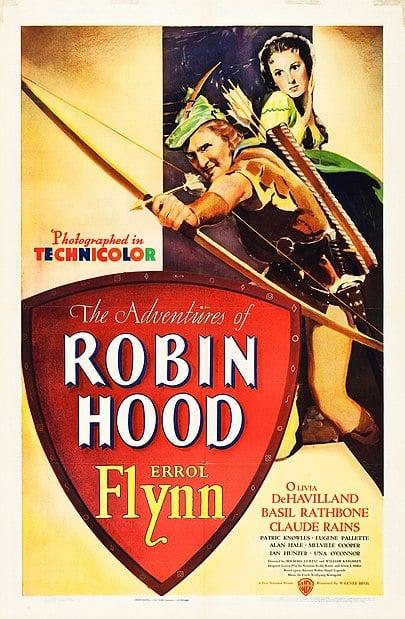 Duelos a espada, frailes pendencieros y anhelos de reparar las injusticias. Puede que Robin de los bosques (Michael Curtiz, 1938), sea una de las películas de aventuras que mejor encarnen la vibrante evocación que se esconde en los años de la infancia.