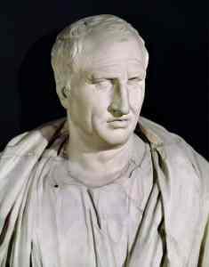 Busto de Cicerón, ubicado en los Museos Capitolinos de Roma.