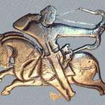 Cuenco de plata de la cultura de los Hunos Blancos encontrado en Pakistán, 460-479. The British Museum (Wikimedia).