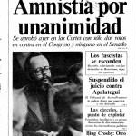 Portada de Diario 16 el 15 de octubre de 1977, día de la firma de la ley de Amnistía (Biblioteca Nacional de España).