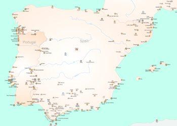 Clasificación de patrimonio realizada hasta el momento por Forte Cultura de la península ibérica.