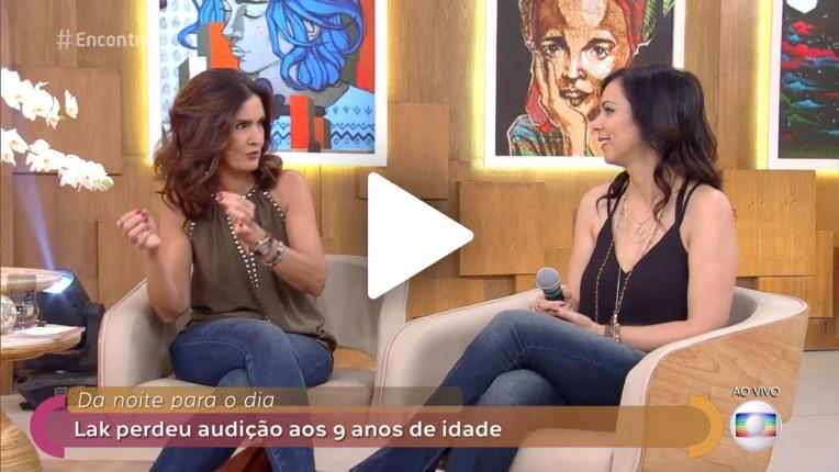 Fátima Bernardes entrevita Lak Lobato no Encontro