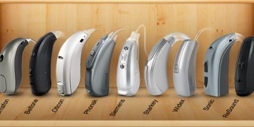 Marcas e modelos de aparelhos auditivos AASI (BTE)