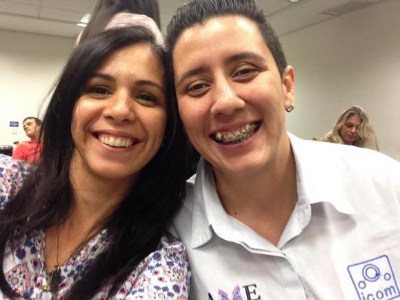 Andreia Venancino, intérprete da AME e eu. Experiência maravilhosa.