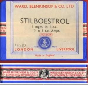 Poison ! Stilboestrol 1 mg Box - Made in England UK