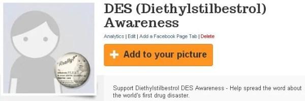 DES Diethylstilbestrol Awareness PicBadge