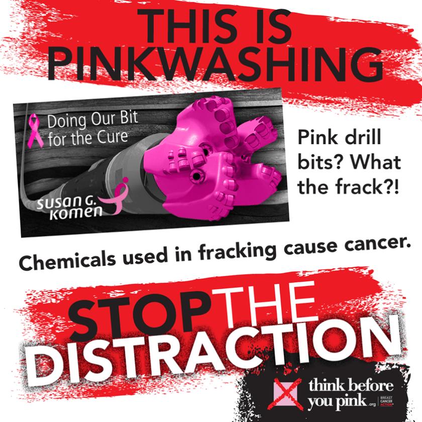 Fracking and PinkWashing poster