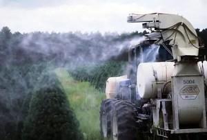 image of pesticides spraying