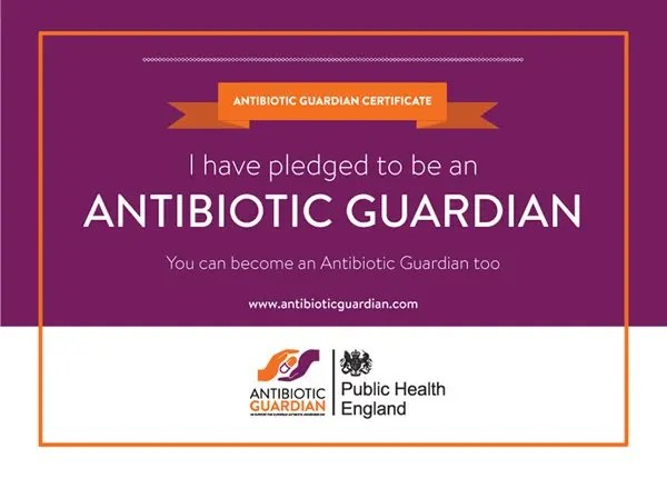 Antibiotic Guardian Certificate image