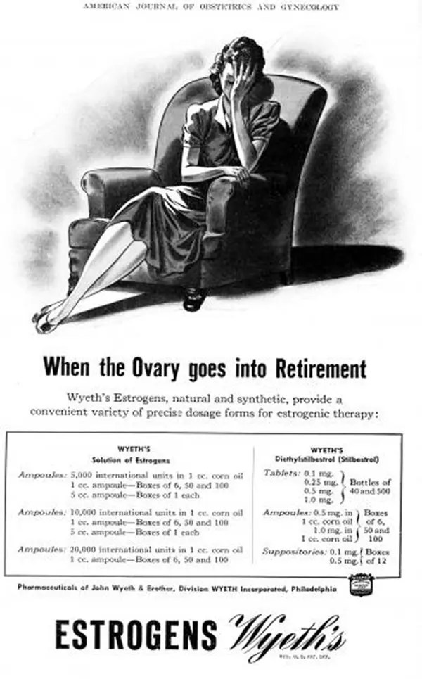 Wyeth's-Estrogens advert image