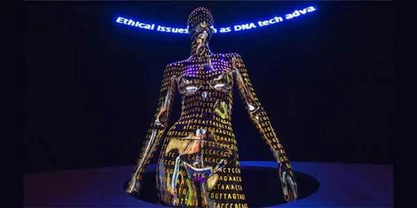 image of statue Human-Gene-Editing