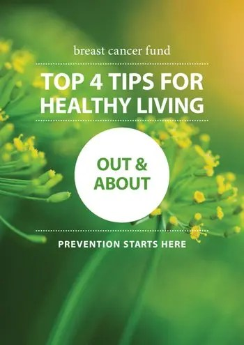 image of Healthy Living - Out and About - Top Tips Card
