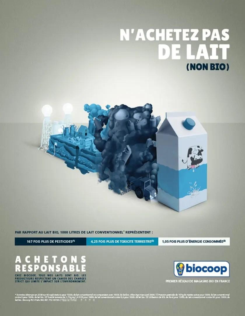 Produits laitiers : n'achetez pas de lait (non bio)