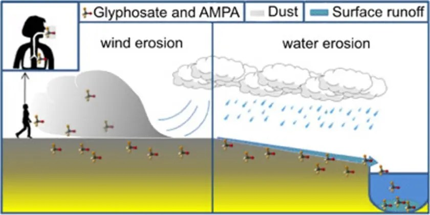 Distribution of glyphosate and aminomethylphosphonic acid (AMPA) in agricultural topsoils of the European Union
