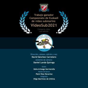 Ganadores del campeonato de Euskadi de Vídeo Submarino 2021