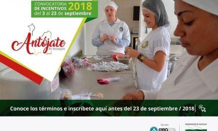 Hasta el 23 de septiembre estará abierta la convocatoria Antójate de Antioquia 2018