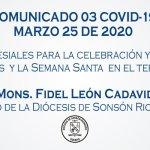 indicaciones semana santa 2020 desde la diócesis Sonson Rionegro