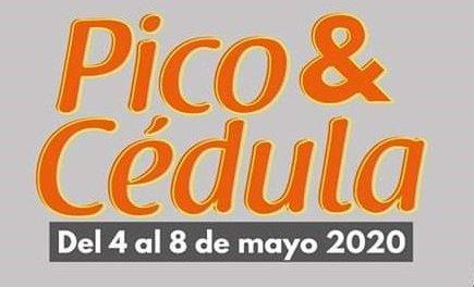 Pico y cedula para la semana del 4 al 8 de mayo