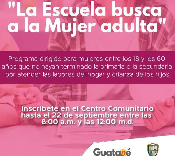 """En Guatapé se implementará el programa de la gobernación de Antioquia """"la escuela busca a la mujer adulta"""""""