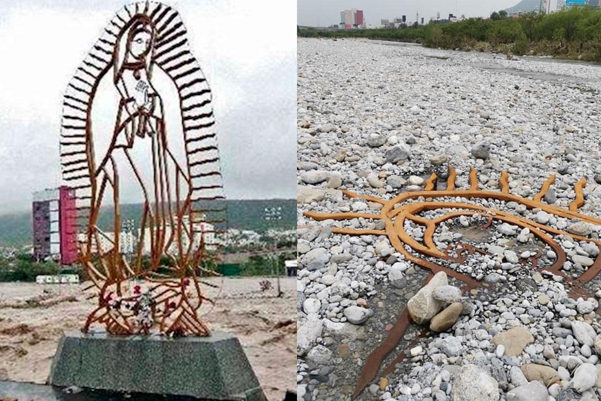 La escultura fue sepultada por el Huracán Alex hace 10 años y el Huracán Hanna la desenterró.