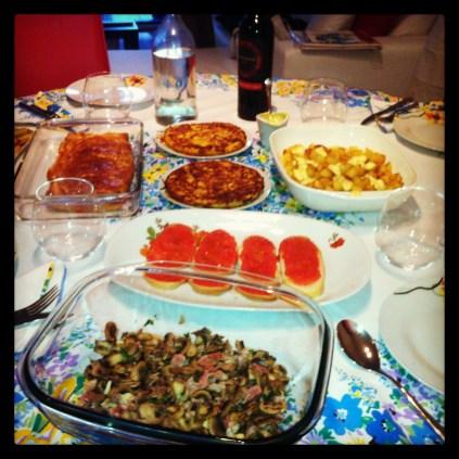 Degustación española en casa!