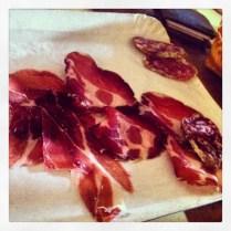Embutidos típicos: Coppa, pancetta y salame