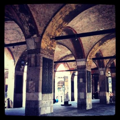 Las Columnas de la piazza