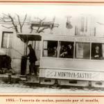 1885: el tranvía de mulas por el Muelle