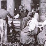 Santander 1921:la Pescadería, en plena calle, parecía un aduar africano…