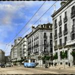 La avenida de Calvo Sotelo de principios de los 60, al todo color