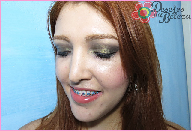 tutorial (passo a passo) de maquiagem - preto com pigmento dourado imagem 2