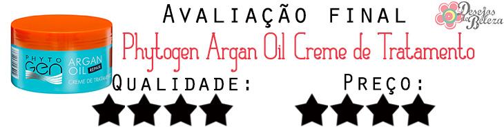 phytogen argan oil avaliação final