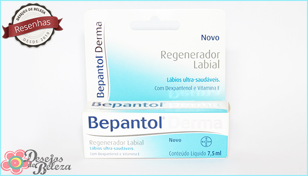 Testei: Bepantol Derma Regenerador Labial