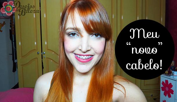 """Minha """"nova"""" cor de cabelo ruivo"""