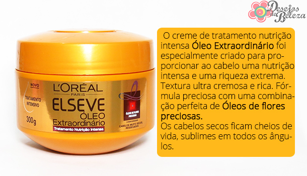 máscara óleo extraordinário elséve - o que a marca diz 2 - desejos de beleza