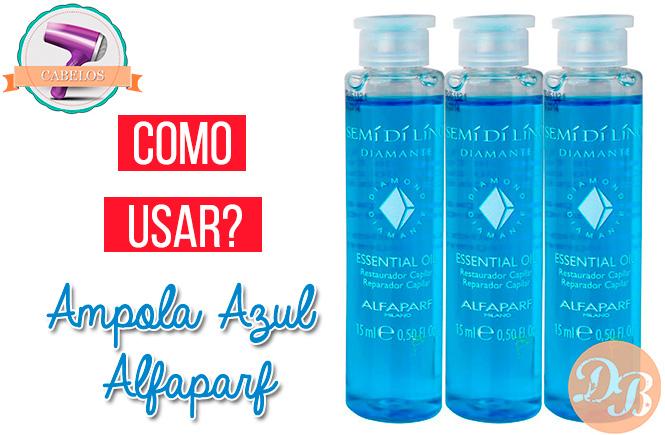 Como usar: Ampola Azul Alfaparf