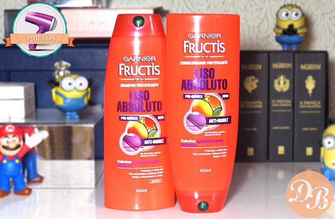 Testei: Garnier Fructis Liso Absoluto – Quimicamente Tratados