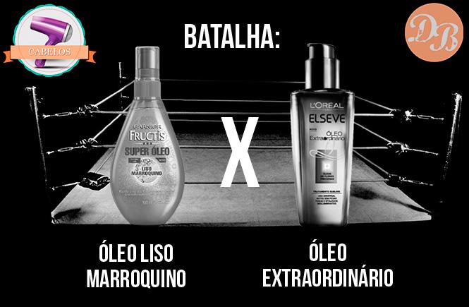 Batalha: Óleo Liso Marroquino Garnier X Óleo Extraordinário Elseve