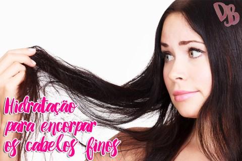 Hidratação para encorpar os cabelos finos