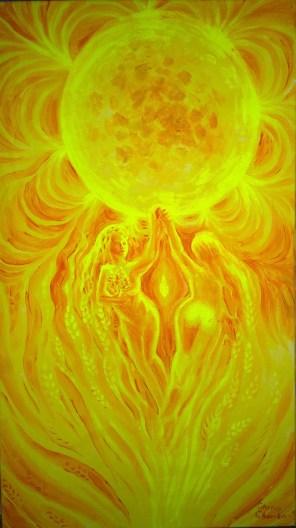 Dansul ielelor, pictura solara de vara