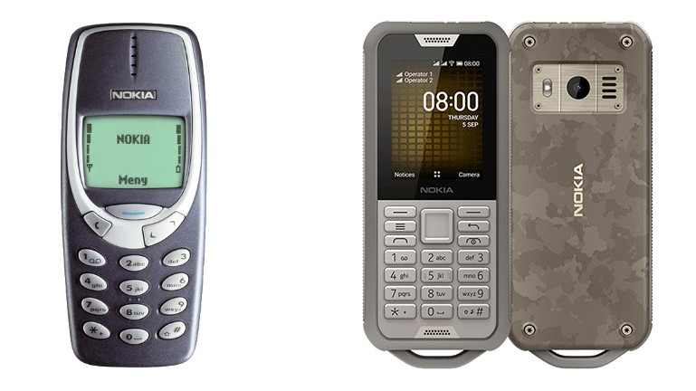 Nokia 3310 y Nokia 800 Tough