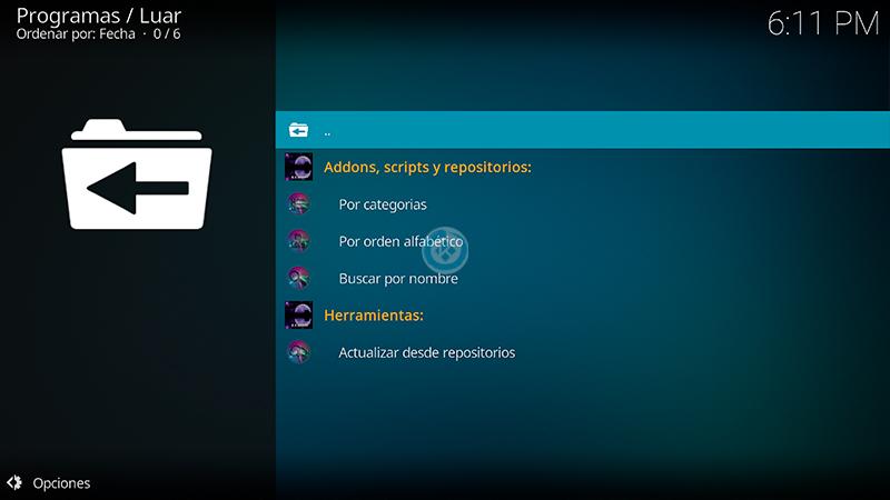 Sin duda alguna, Luar se centra en mejorar tu experiencia al utilizar el popular gestor multimedia Kodi siendo el instalador indicado para habilitar cualquier complemento o addon a este programa