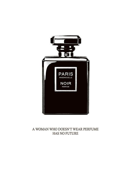 black perfume poster